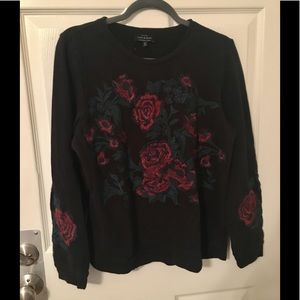 💐 Lucky Brand Floral Embroidered Top